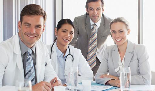 Gruppe Arzt